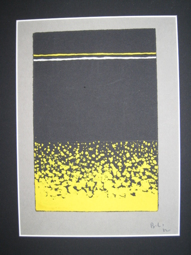 Boris LACROIX - Dibujo Acuarela - PROJET POUR UN TAPIS ART DECO
