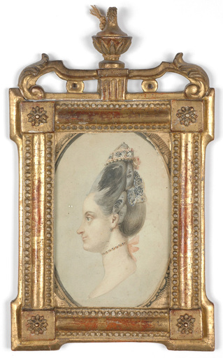 """Carl Friedrich HOLTZMANN - Miniatura - Carl Friedrich Holtzmann (1740-1811) """"Aristocratic lady"""""""