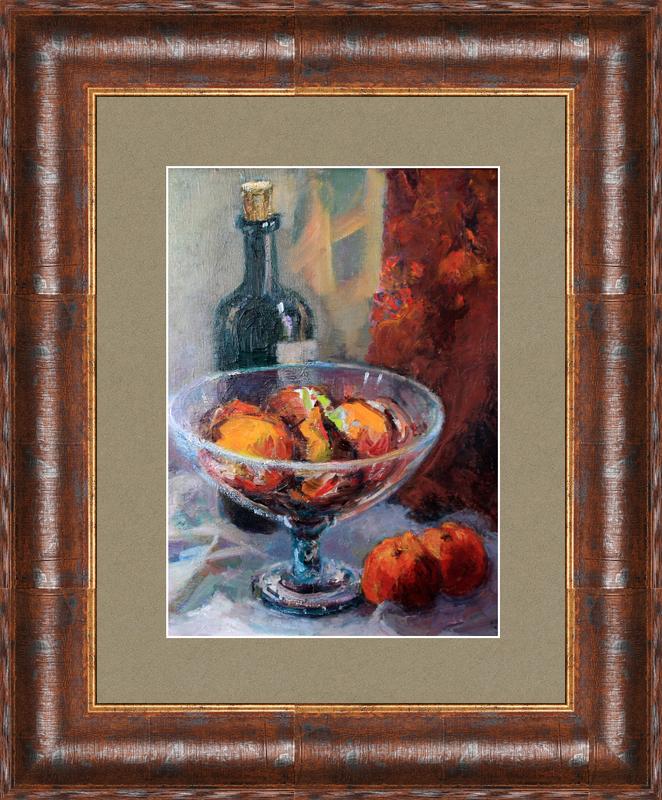 Levan URUSHADZE - Peinture - Still life with a bottle of wine