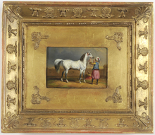 "Carle VERNET - Painting - ""Mameluk with white stallion"" 1805/15"