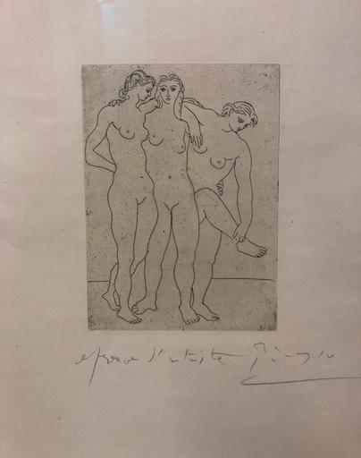 Pablo PICASSO - Stampa Multiplo - Las tres Bañistas