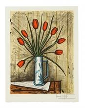 Bernard BUFFET - Stampa Multiplo - Bouquet de tulipes, 1985