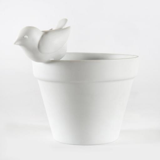 François-Xavier LALANNE - Céramique - Pot oiseau, dit aussi Pot Bagatelle,