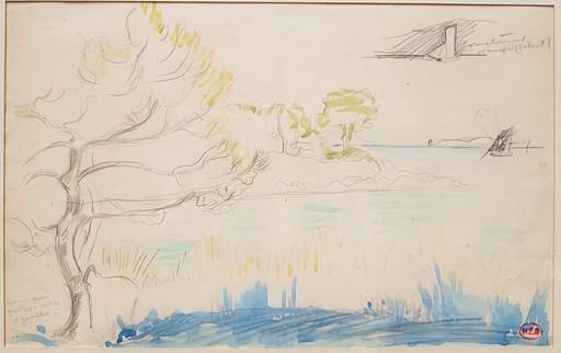 Henri Edmond CROSS - Drawing-Watercolor - Bord de mer, Méditerranée