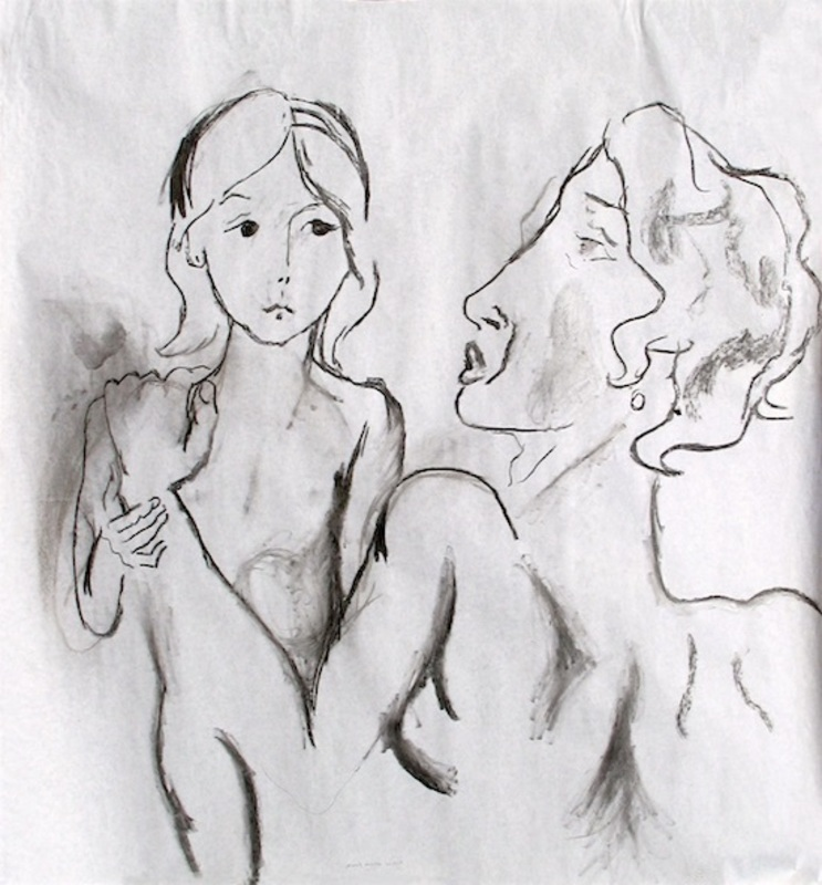 Manuel MONTERO - Dessin-Aquarelle - Maternité Maria