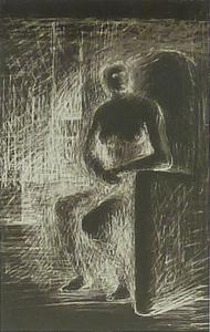 Henry MOORE, Seated Figure IV - Reverse Lighting