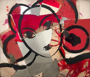 Manolo VALDÉS - Peinture - Matisse como Pretexto con Rosa y Espejo