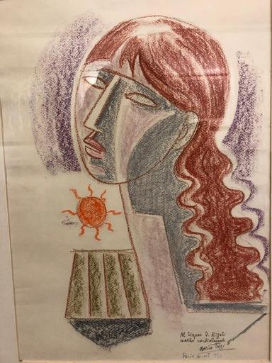 Mario TOZZI - Disegno Acquarello - il sole