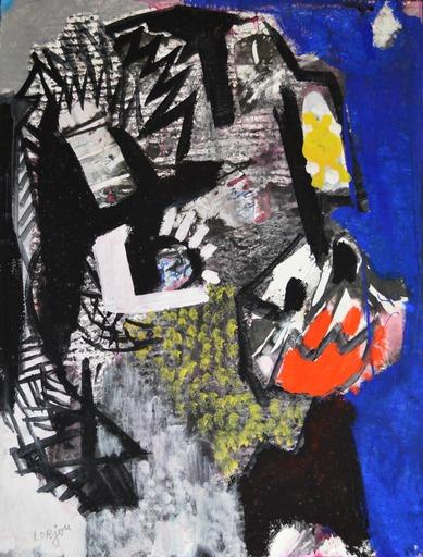 Bernard LORJOU - Gemälde - « Personnage » Circa 1961-1970