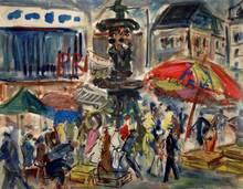 Roland DUBUC - Pintura - Marché parisien