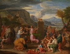 Alexandre UBELESKI - Painting - L'Adoration du Veau d'or
