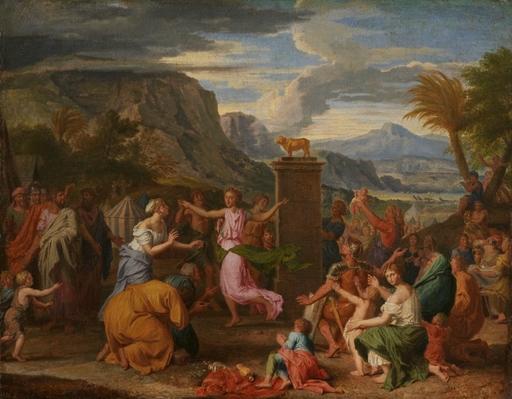 Alexandre UBELESKI - Peinture - L'Adoration du Veau d'or