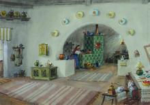 LAZETZKY - Dessin-Aquarelle - Interior Scene