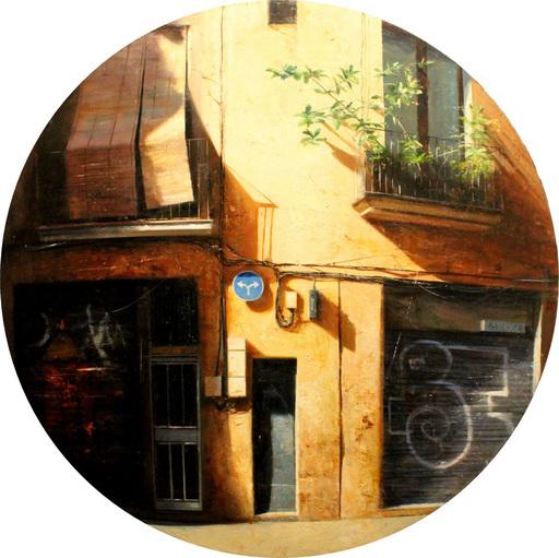 Carlos DIAZ - Pittura - Fachada del Gótico