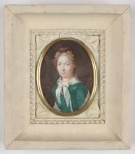 "Johann Christian SCHOELLER - Miniature - ""Portrait of a Lady"", 1819, Miniature"