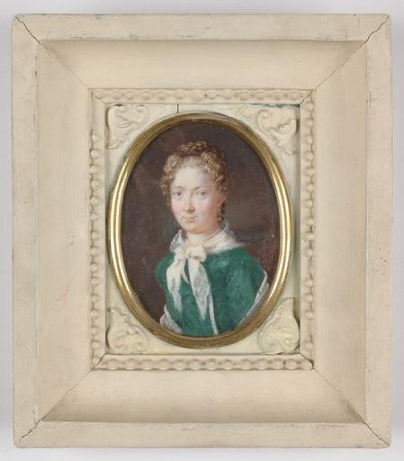 "Johann Christian SCHOELLER - Miniatura - ""Portrait of a Lady"", 1819, Miniature"