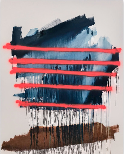 Tommaso FATTOVICH - 绘画 - Delirio En Carretera (Abstract painting)