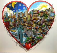 Charles FAZZINO - Estampe-Multiple - Night and day the heart beats for NYC