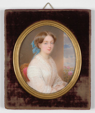 "Emanuel Thomas PETER - Miniatur - ""Princess von Baden"", important miniature on ivory"