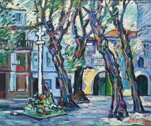 Alfonso ABELENDA ESCUDERO - Pittura - plaza de las Barbaras
