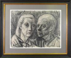 Hubertus Johannes MENGELS - Peinture - Old Couple in Love
