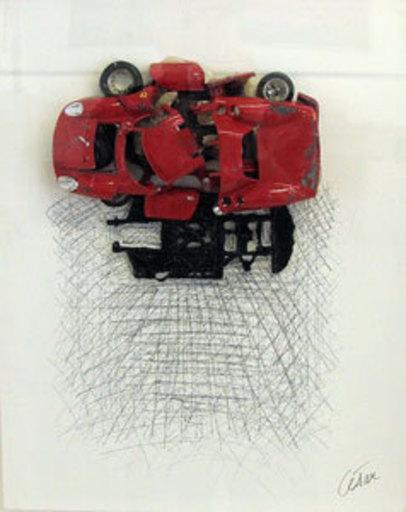 CÉSAR - Peinture - Ferrari rouge