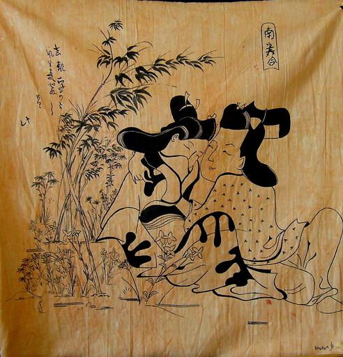 Hashka HU IZEN - Peinture - Loved garden 1