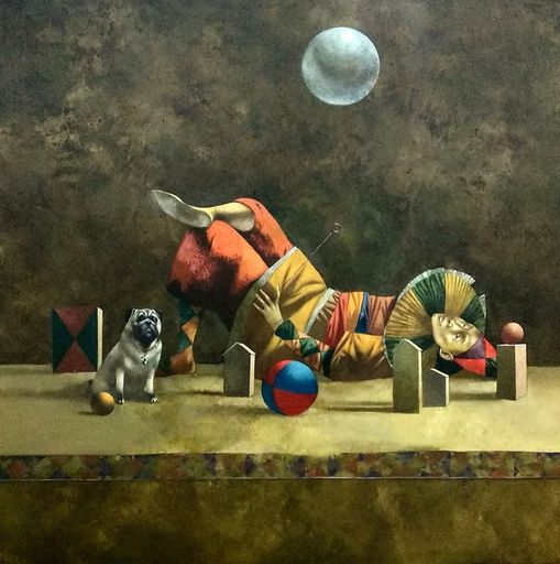 Bobur ISMOILOV - Peinture - Inflating the full moon