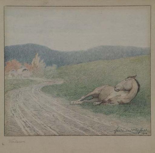 "Ferdinand Karl GOLD - Disegno Acquarello - ""Abandoned"" by Ferdinand Karl Gold"