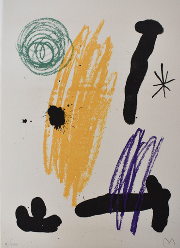 Joan MIRO - Stampa-Multiplo - Composition VIII, from: Recent Unpublished Works