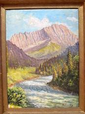 Kurt LIEBIG - Painting - Litnisschrofen