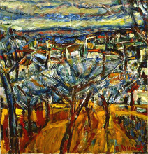Auguste DUREL - Painting - Les arbres bleus (N°15)