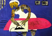 """Elisabeth SABALA - Painting - """"Plancha el drap de cuina"""""""