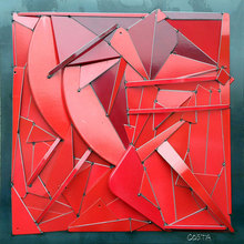 Fernando DA COSTA - Sculpture-Volume - Monochrome Rouge