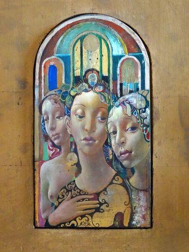 Normund BRASLINS - Painting - Girls