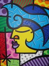 Romero BRITTO - Pintura - Chicago Alien