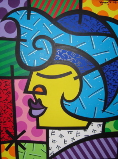 Romero BRITTO - Pittura - Chicago Alien