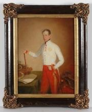 "Eduard VON HEUSS - Pintura - ""Archduke Johann of Austria"", Rare Oil Study !, 1830s-1840s"