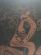"""巴勃罗•毕加索 - 版画 - """" Tête d'Histrion (Le Danseur) """""""