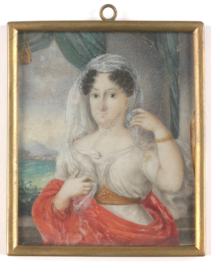 "Anton WEISSENFELD - Miniatura - ""Portrait of a lady"", miniature on ivory, 1815/20"