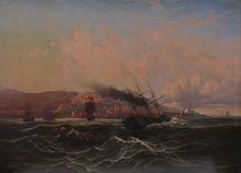 Léon Jean-Baptiste SABATIER - Painting - Ansicht von Algier