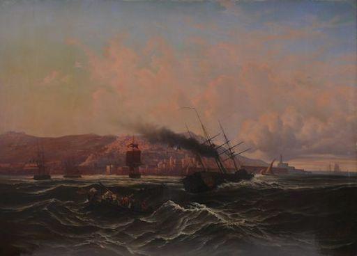 Léon Jean-Baptiste SABATIER - Pintura - Ansicht von Algier