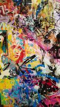 Cédric BOUTEILLER - Peinture - PInk Charlie Dali