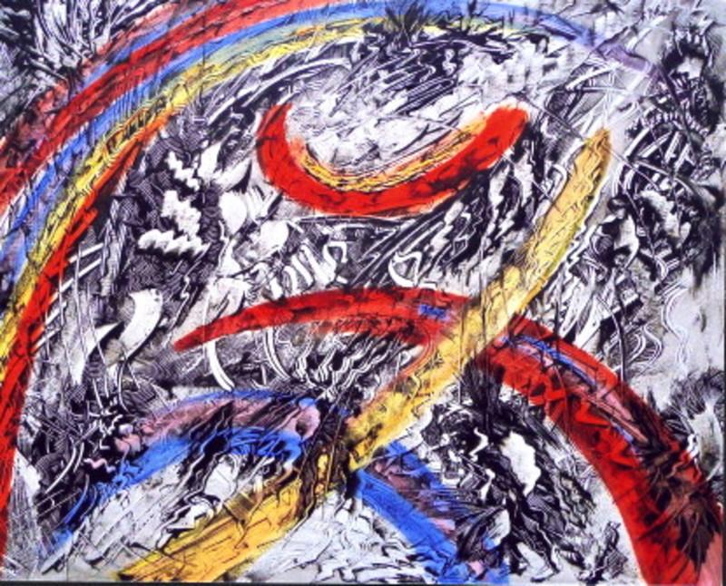 Didier ANGELS - Peinture - L 'éveil des astres