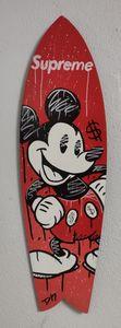 DN - Pintura - Planche de Surf Mickey Supreme
