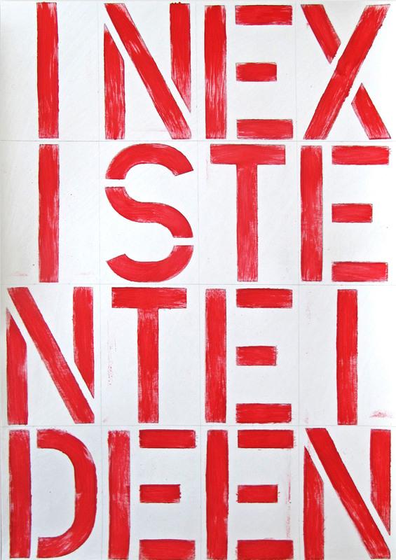 Daniel GÖTTIN - Painting - BP37, INEXISTENTEIDEEN, 2019 (Abstract painting)