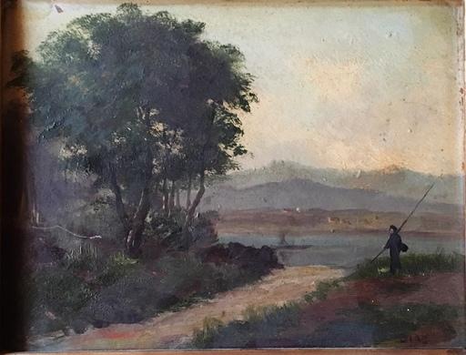 Narcisse Virgile DIAZ DE LA PEÑA - Peinture - le pêcheur