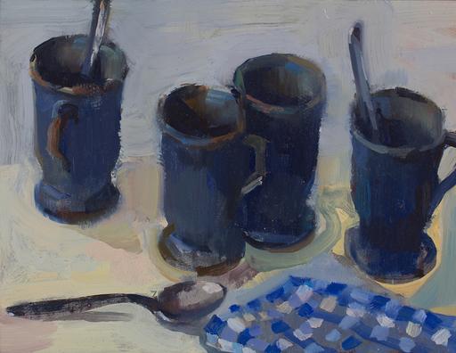 Eric BARI - Painting - 4 cafés