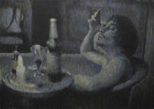 Ritums IVANOVS - Painting - Absinthe and smoke