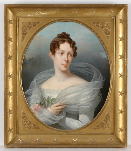 """François GÉRARD - Painting - """"Mme Girault de Renemesnil"""" important painting! late 1810's"""